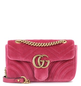 Rent: GUCCI Velvet Marmont GG (pink)