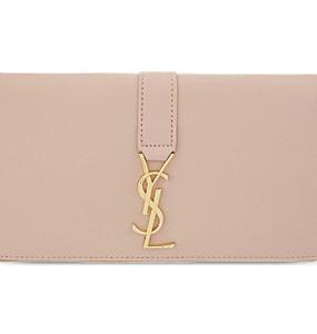Buy: Saint Laurent Monogram Flap Zip Wallet