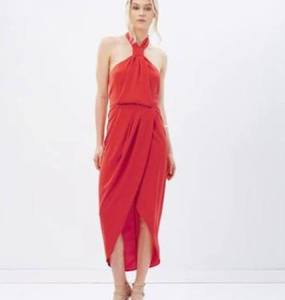 Buy: Shona Joy - Core Knot Draped Dress SIZE 6