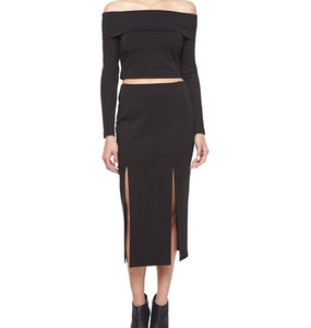 Rent: N/NICHOLAS | Ponti Double Split Skirt