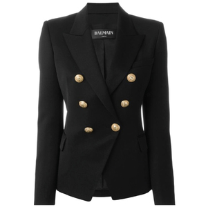 Rent: BALMAIN Black wool double breasted jacket