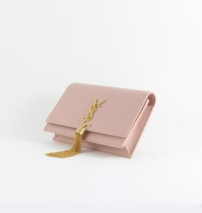 Rent: Kate Tassel Chain Wallet in Pale Blush