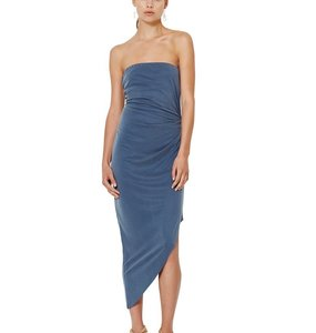 Rent: Bec and Bridge Delphine Strapless Dress Steele Blue