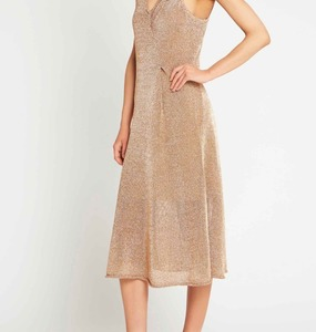Rent: sass & bide - liquid metal dress copper