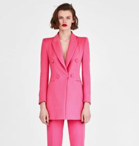 Rent: ZARA Pink Flock Blazer