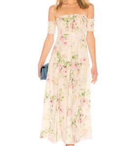 Rent: Zimmermann Iris Shirred Bodice Maxi Dress - Size 3