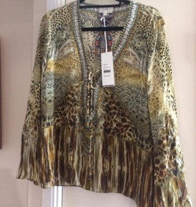 Buy: CAMILLA lace up top Leopards Leap size M Medium